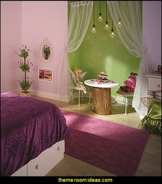 Fly away with Tinker Bell  and bring home the magic of the Disney Fairies.  This is a magical bedroom theme for all those gir...