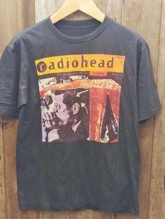 Vintage Band Shirts, Band T Shirts, Band Merch, Types Of Cotton Fabric, Radiohead, Retro Outfits, Fitness Fashion, Funny Shirts, Vintage Fashion