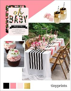 Spring florals are so on trend right now, and we're seeing dazzling peonies, English garden roses, and ranunculus in fashion, home decor, and stationery. Add in a little sparkly metallic and you have the most splendid and sophisticated baby shower ever. Celebrate baby's upcoming arrival with these elegant floral baby shower ideas that are sure to inspire your baby shower planning.