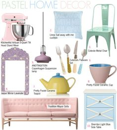 """Pastel Home Decor"" by kusja on Polyvore"