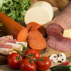 Mr. Hero's Italian deli meats and cheese with fresh vegetables.
