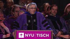 Honored Speaker Robert De Niro's address at the 2015 Tisch School of the Arts Salute ceremony.