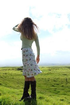 Women's Skirt Aline Knee Length , I like the country look as well as the chic boho city look