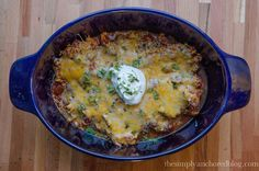 Simply Anchored: Cheesy Chicken & Salsa Slow Cooker Bake