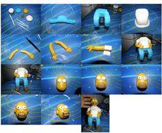 Homer Simpson step by step...