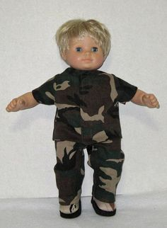 Bitty Baby Doll Clothes Camouflage Set Boots  15 by Dakocreations, $35.99