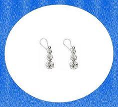 2pr Swarovski Silver Plated CrystalDrop Pierced Earrings-Great price! FREE GIFT!