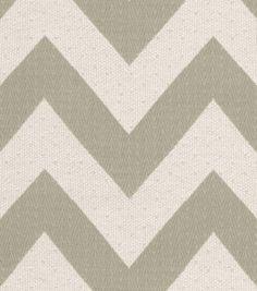 Home Decor 8''x 8'' Fabric Swatch Upholstery-HGTV HOME Chevron Chic Quartz