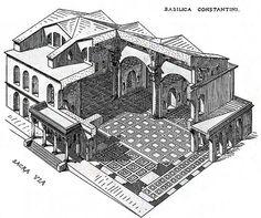 basilica di Massenzio. Roma