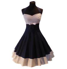 ROCKABILLY 50er-Jahre Tanz-Petticoatkleid  Ein in liebevoller Handarbeit hergestellt, dass sich durch seine Rücken-Schnürung perfekt Ihrer Figur anpasst.  Das Oberteil ist komplett abgefüttert....