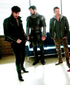 """just realized that the show ummm """"dispatched"""" all three of these for at least some portion of this season. If thou art a scruffy, gorgeous male beware of Storybrooke! Abc Shows, Best Tv Shows, Favorite Tv Shows, Ouat, Once Upon A Time, Sean Maguire, Evil Queens, 1 Gif, Outlaw Queen"""