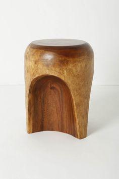 acacia wood stool