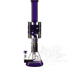 "Picture of PURE 18.5"" Tall Zero Beaker Tube w/ Detachable Freezer Coil and Inline Ash Catcher"