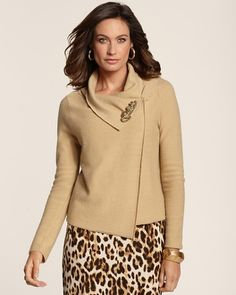 Chico's Ryder Convertible Cardigan, I'd put it with black turtleneck and black pants