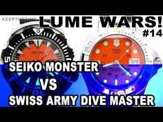 LUME WARS! #14 | SEIKO MONSTER VS SWISS ARMY DIVE MASTER 500