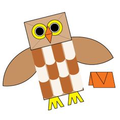 paper sack owl hand puppet