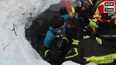This boy was among the 8 survivors rescued from a deadly avalanche in Italy #news #alternativenews