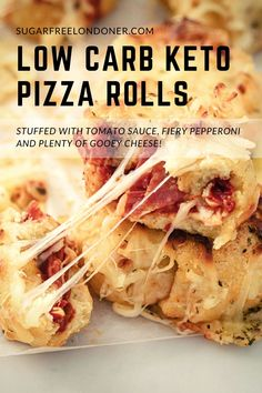 Keto comfort food at its best! Keto pizza rolls are a fun way to enjoy all the great things we love about pizza – while keeping it low carb. It is a healthy easy to make homemade pizza rolled into flavorful goodness in every bite with loads of gooey cheese. Only 10 minutes prep and 4.8g net carbs per roll! #easyrecipes #homemade #glutenfree #vegan