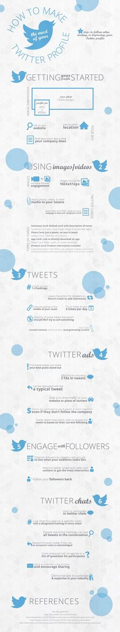 Twitter for Beginners How to Make the Most of Your Business Profile #Infographic