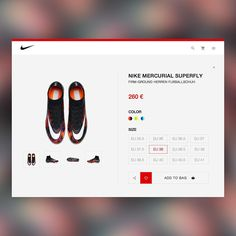 Here's some design for a long time! #Nike #redesign #store #ecommerce #nikemercurial #soccer #ui #UX #design #userexperience