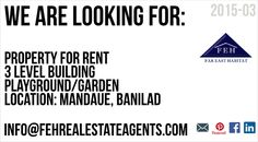 looking for property Property For Rent, Warehouses, Cebu, Playground, Pole Barns, Children Playground, Women's Side Tattoos, Cebu City, Men's Fitness Tips