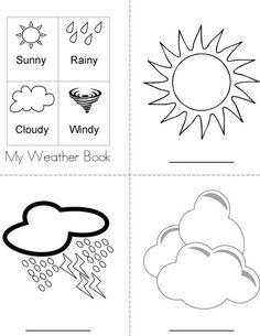 My Weather Book Coloring Page | Pdf Çıktı | Pinterest | Weather ...
