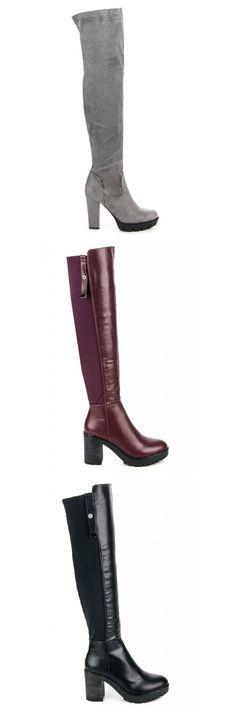 Čižmy s hrubou podrážkou Riding Boots, Platform, Adidas, Shoes, Fashion, Horse Riding Boots, Moda, Zapatos, Shoes Outlet