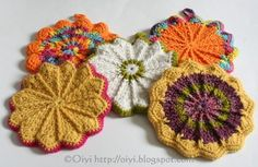 hot pads! and potholders - link to pattern on this site