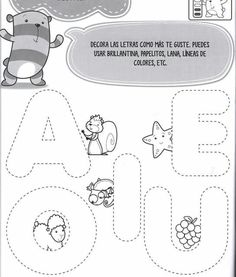 Kids Math Worksheets, Grammar Activities, 1st Grade Worksheets, Toddler Learning Activities, Writing Worksheets, Preschool Activities, Kids Learning, Preschool Spanish Lessons, Free Preschool