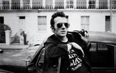 Strummer, 1985.   photo by Josh Cheuse
