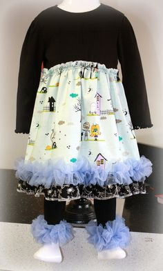 Too Cute to spook halloween ruffle dress by Bootleglaceboutique, $40.00