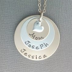 Hand Stamped Jewelry Mixed Metal Jewelry  by BaWStampedDesigns