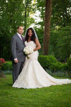 Ombre plus size wedding dress