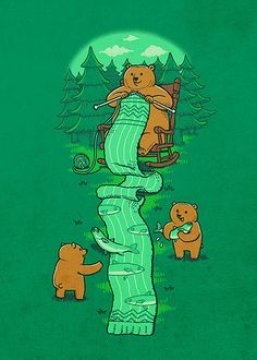 Knitting - I wanna hang out with this bear!