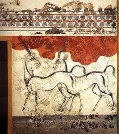 Fresco de los Antílopes. Akrotiri, Isla de Thera