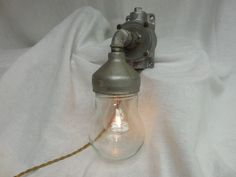 VINTAGE INDUSTRIAL Explosion Proof WALL LIGHT Crouse-Hinds w/touch  STEAMPUNK