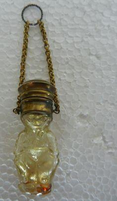 Rare Old Unique Genie / Clown Shape Glass Perfume Bottle