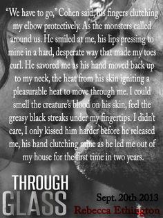 Kiss Teaser from Through Glass by Rebecca Ethington - Release date September 20th 2013