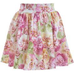 Floral Skater Skirt - Miss Selfridge - Polyvore