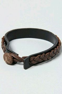 pic only - leather braided bracelet