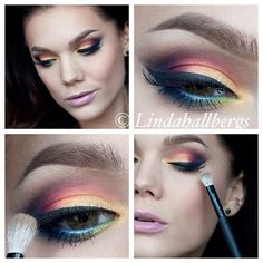 Colorful eye makeup @Linda Bruinenberg Hallberg