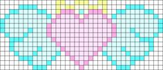 Kawaii Winged Heart Test Perler Bead Pattern / Bead Sprite