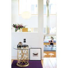 Интерьеры Bernhardt Geneva Round Side Table Roomscene