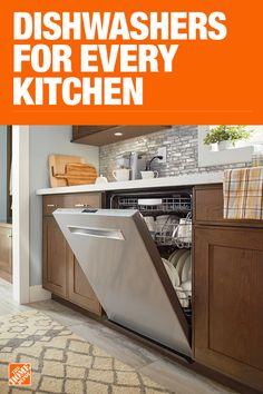 Dishwashers – The Home Depot Ikea Kitchen Design, Kitchen Cabinet Design, Interior Design Kitchen, Kitchen Decor, Living Room Kitchen, Interior Design Living Room, Pinterest Design, Kitchen Wallpaper, Middle Eastern Recipes