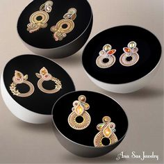 #earrings #statementjewelry #statementearrings #soutache #handmade #handmadejewelry #fashionstatement #fashion #fattoamano #orecchini #cercei #swarovski #designer #jewelrygram #artist #jewelrydesign