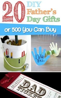 20 DIY Gift Ideas for Father's Day or 500 You Can Buy!