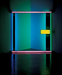 Not the light, but the lines. Light Installation By: Dan Flavin