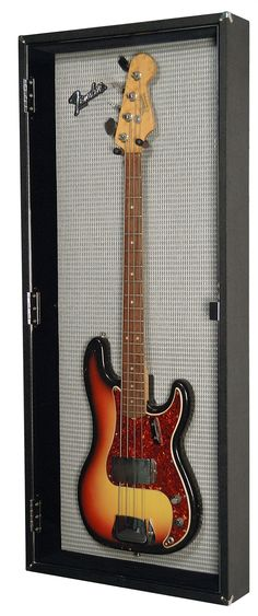 Fender Precision Bass Display -- Love the Background (Grill Cloth)