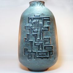 XL West German Pottery Floor Vase / Bodenvase • 70 s Fat Lava • Carstens