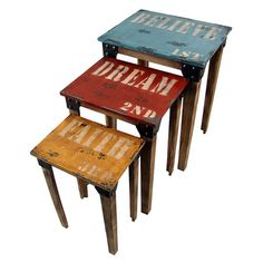 I pinned this 3 Piece Inspiration Nesting Table Set from the Buyers' Boutique event at Joss and Main!
